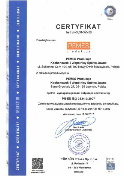 Certyfikaty Spawalnicze Pemes Produkcja_Strona_1